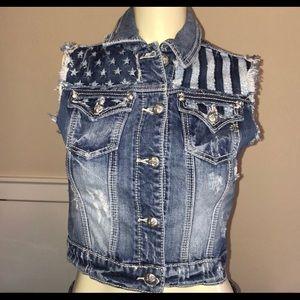 Miss me blue jean vest!